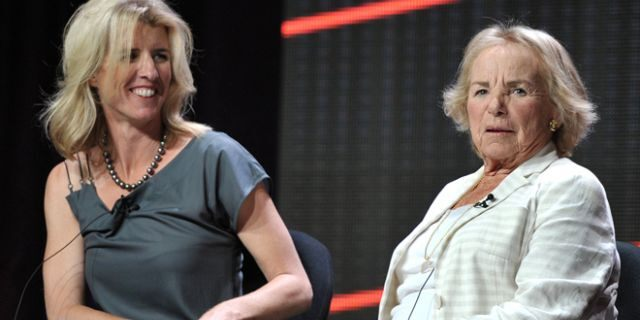 Rory Kennedy (left) and her mother Ethel Kennedy.