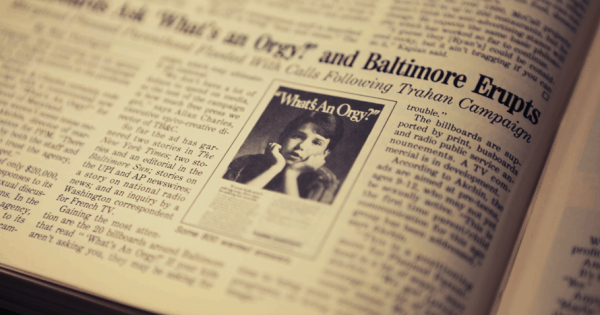 33 Years Ago, Baltimore Freaked Out Over This Orgy Advertisement – Adweek