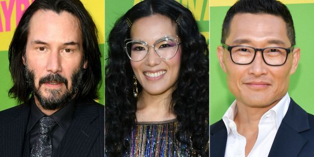 """Ali Wong (center) stars in the new romantic comedy """"Always Be My Maybe,"""" which will be released on Netflix Friday. Wong also co-wrote the film, in which her character has several love interests including Keanu Reeves"""