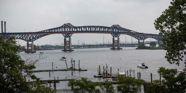 The Pulaski Skyway is seen in Jersey City, N.J., on June 25, 2014. (Getty Images)
