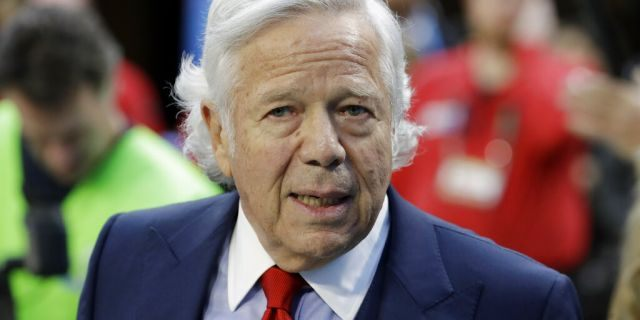 Palm Beach County Judge Joseph Marx ruled Monday that prosecutors can't use the surveillance footage video that allegedly shows the 77-year-old New England Patriots owner Robert Kraft engaging in paid sex at a massage parlor, according to a report. (AP Photo/Chris O