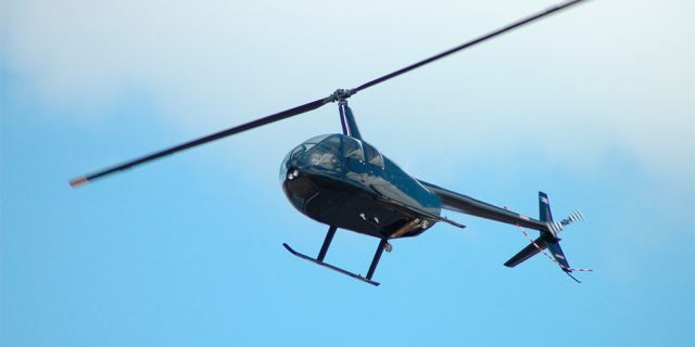 A Robinson R22 Helicopter, like the one allegedly operated by Santonastaso.