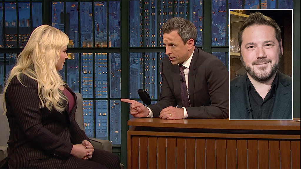 Meghan McCain's husband blasts late-night host Seth Meyers after contentious interview