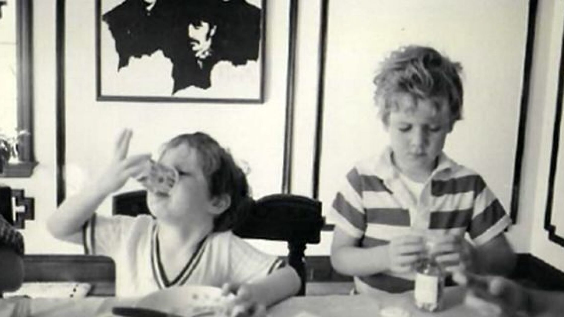 Mike photographed with his younger brother Jack.