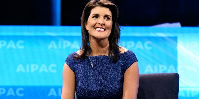 2019/03/25: Nikki Haley, former Ambassador of the United States to the United Nations seen speaking during the American Israel Public Affairs Committee (AIPAC) Policy Conference in Washington, DC. (Photo by Michael Brochstein/SOPA Images/LightRocket via Getty Images)