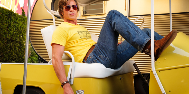 This image released by Sony Pictures shows Brad Pitt in Quentin Tarantino