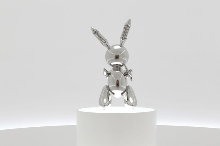 Rabbit hops to a record $91m at Christie's as Jeff Koons once again becomes the world's most expensive living artist