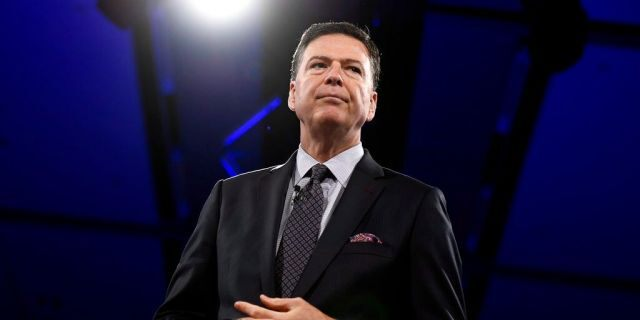 Former FBI director James Comey, seen here in June 2018, was the target of a blistering speech by Rod Rosenstein. (Justin Tang/The Canadian Press via AP, File)