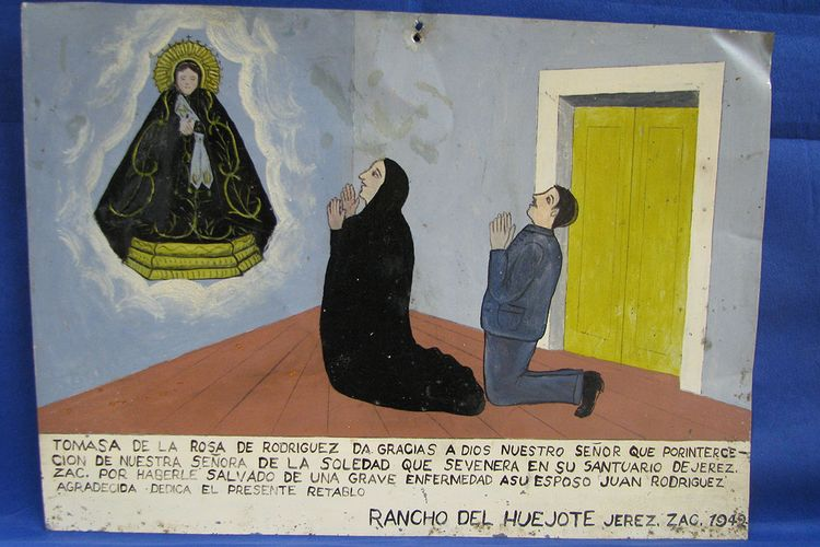Votive paintings smuggled out of Mexico return to public view at Los Pinos presidential palace