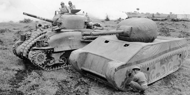 File photo of British dummy tank.