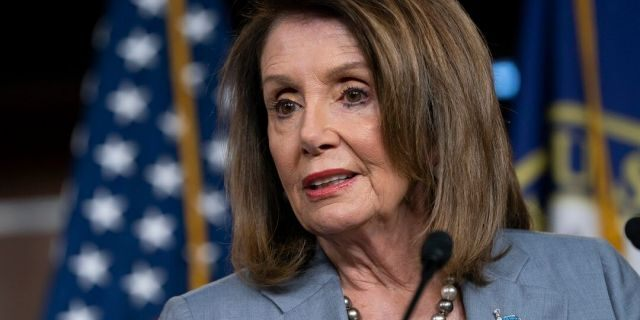 Speaker of the House Nancy Pelosi, D-Calif., meeting with reporters the day after the House Judiciary Committee voted to hold Attorney General William Barr in contempt of Congress. (AP Photo/J. Scott Applewhite, File)