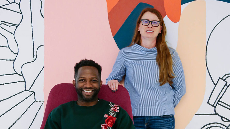 Headshot of Marques Gartrell and Heather English for Adweek's Creative 100