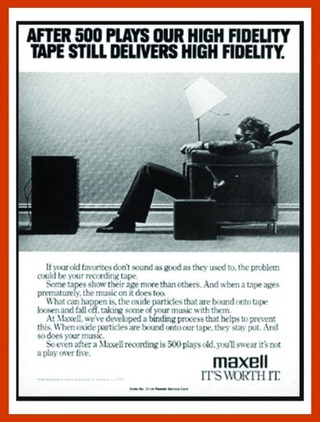 "Maxwell audio classic ""blown away guy"" ad"