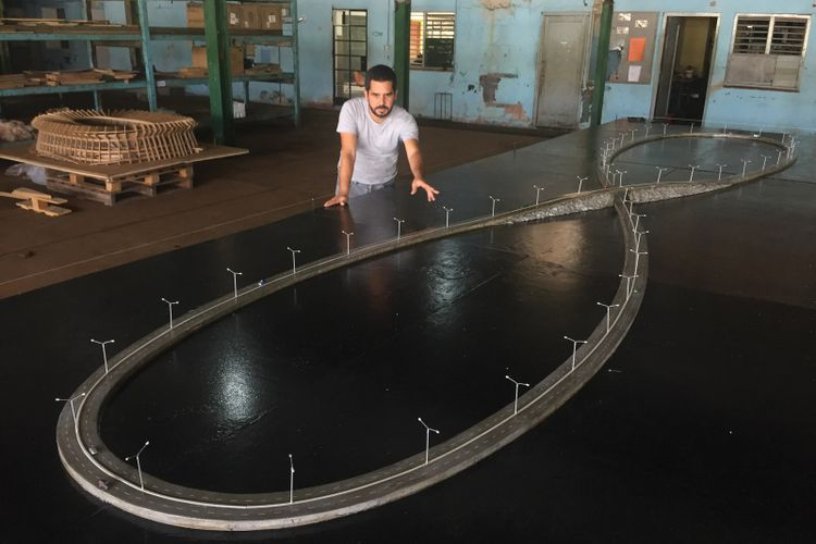 Cuban artist builds a long and winding journey to nowhere