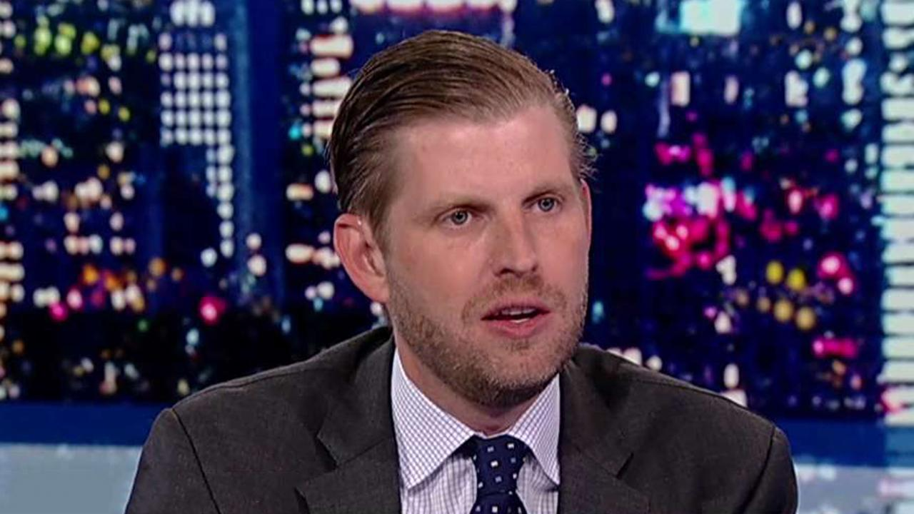 Eric Trump blasts Dems' giveaways to illegal immigrants, talks about spitting attack