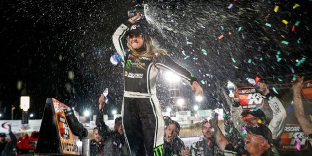 Hailie Deegan has no regrets about spinning her teammate for third NASCAR win