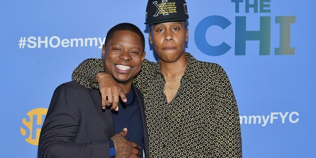 """Jason Mitchell and Lena Waithe attend an event promoting """"The Chi."""" Mitchell as let go from the Showtime series after complaints about his alleged misconduct on set. Waithe said she wished she"""