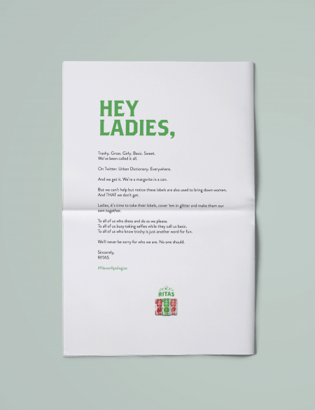 Lime-A-Rita Took Out a New York Times Ad to Call Out Sexist Remarks About Its Drink Line – Adweek