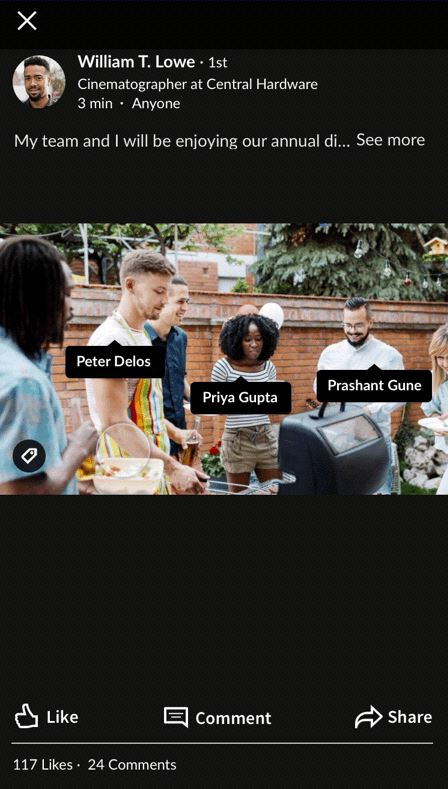 LinkedIn Members Can Now Tag Fellow Members in Photos They Post – Adweek