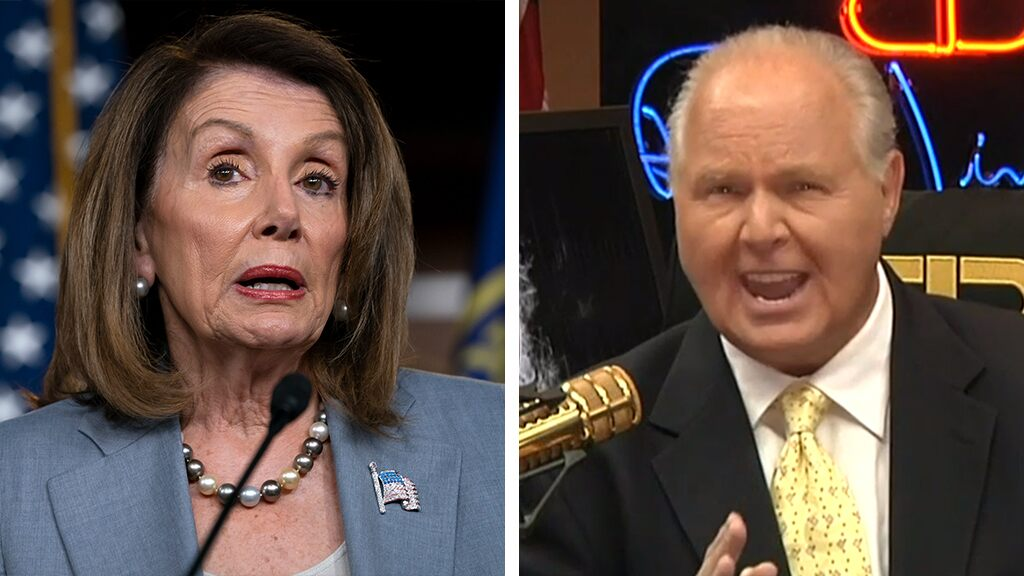 Rush Limbaugh: Pelosi's reported 'prison' comment a sign she's in 'big trouble' with her own party