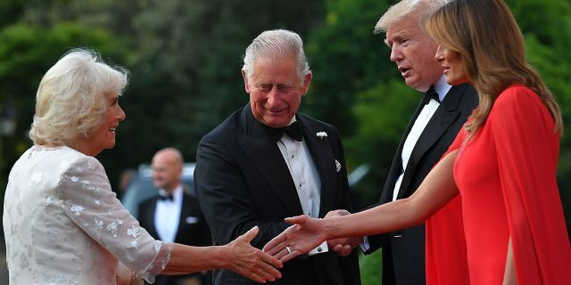 President Trump and First Lady Melania Trump welcomed Britain
