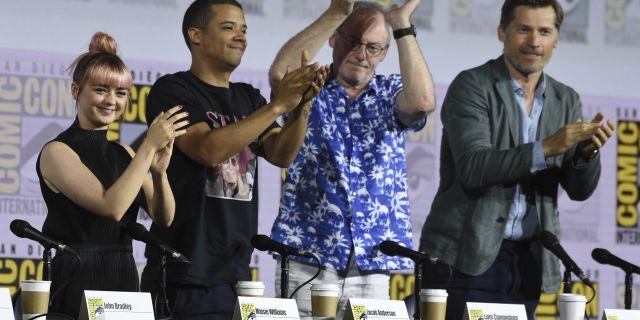 "The cast of ""Game of Thrones"" cast talked about the divisive finale, the infamous coffee cup, and more at San Diego Comic-Con"