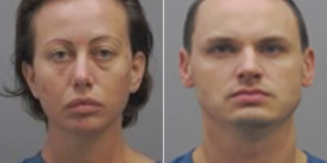 Mugshots for Angelina Hamrick, 32, and Andrew Clark, 33, arrested Saturday in the death of Hamrick