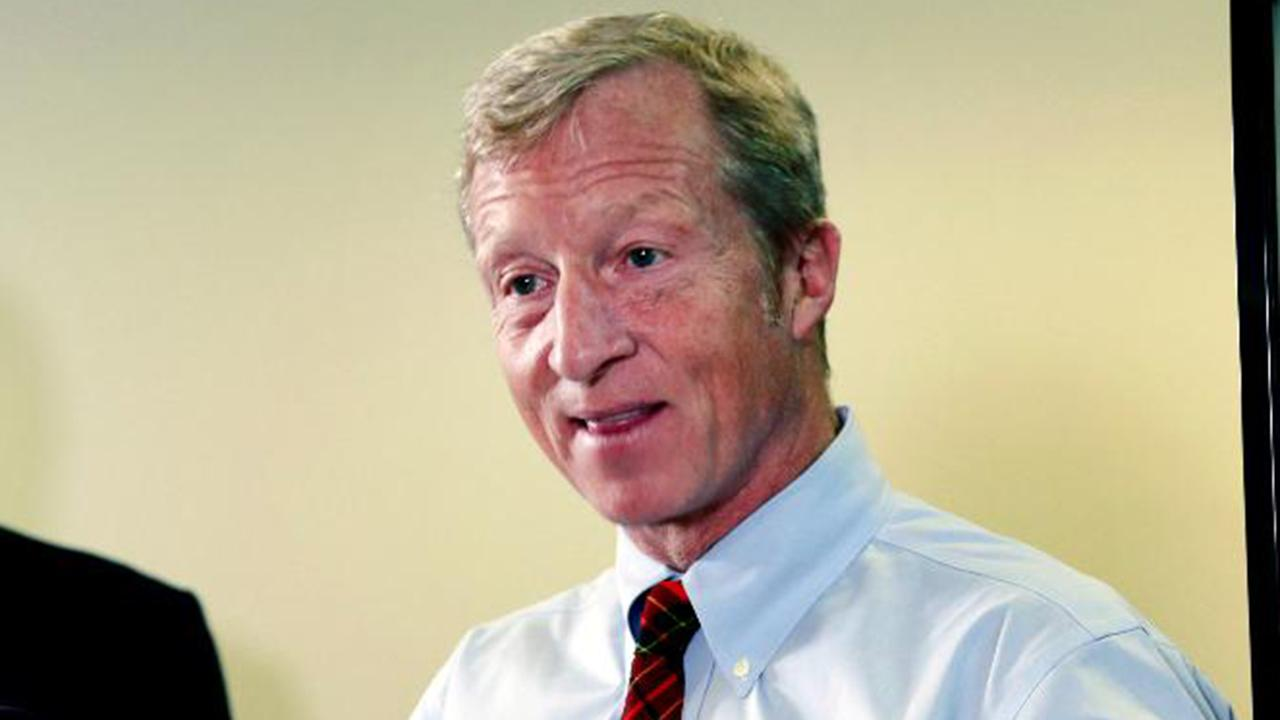Billionaire Tom Steyer, at first campaign event, says he doesn't see himself as rich
