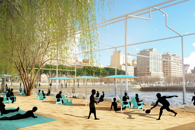 David Hammons's public sculpture on the Hudson River will now be beachfront property