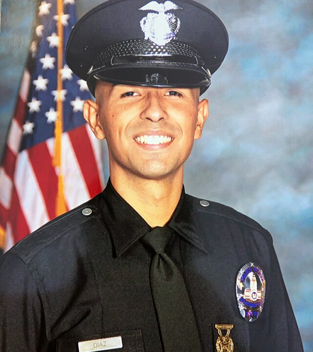 Hunt on for gunman after off-duty LAPD officer murdered