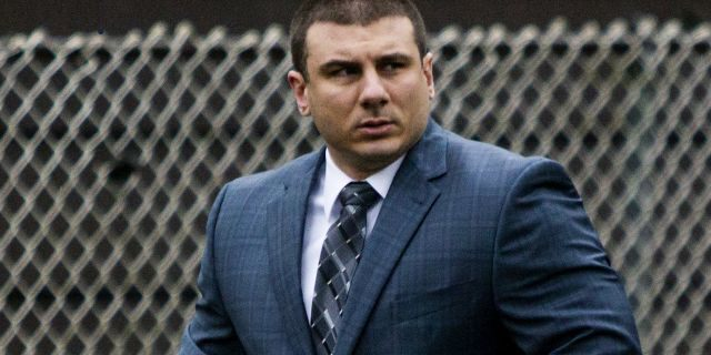 "FILE - In this May 13, 2019, file photo, New York City police officer Daniel Pantaleo leaves his house in Staten Island, N.Y. Time is running out for federal prosecutors to take action in the 2014 death of Eric Garner, the unarmed black man heard on video crying ""I can"