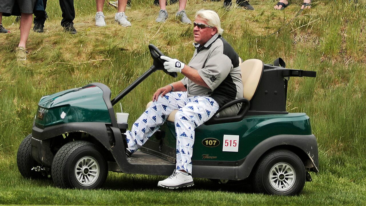 John Daly prohibited from using golf cart at Open Championship
