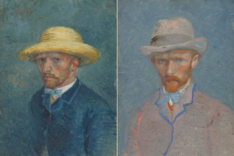 Millinery mix up: scholar says Van Gogh Museum has mistaken hatted portraits of Theo and Vincent