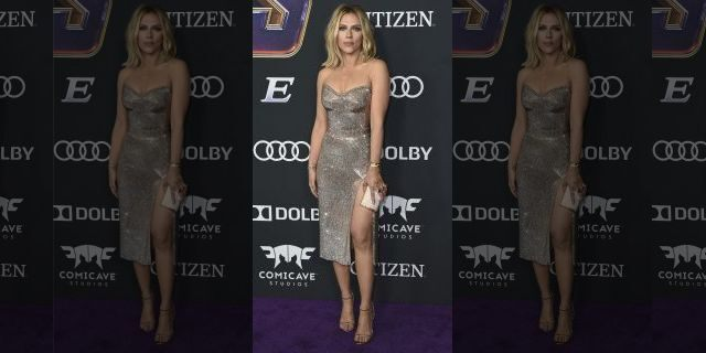 """Scarlett Johansson arrives at the premiere of """"Avengers: Endgame"""" at the Los Angeles"""