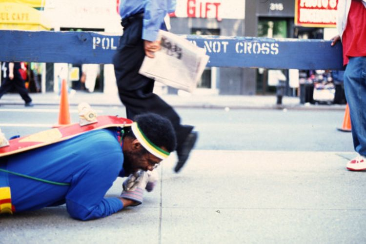 Volunteers wanted to crawl with performance artist Pope.L