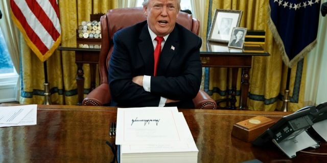 President Trump has said he will not release his tax returns as long as they are under audit. (AP Photo/Evan Vucci, File)