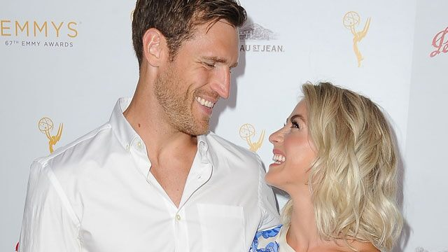 Brooks Laich says wife Julianne Hough 'really enjoys it' when he sucks on her toes
