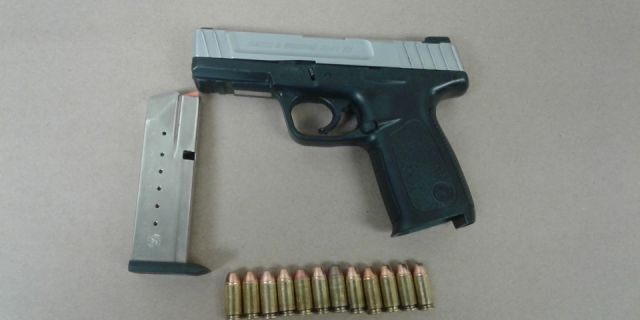 Fresno police on Tuesday obtained a .40 caliber handgun and 12 .40 caliber cartridges during an arrest.