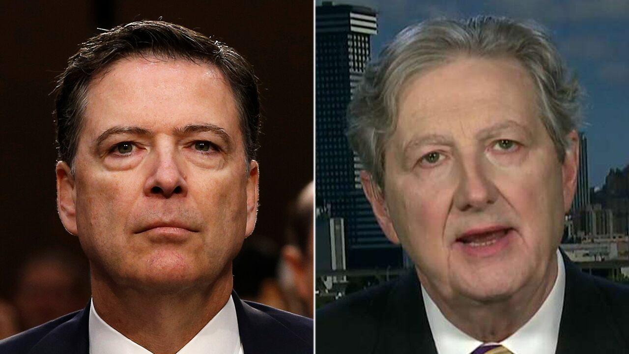 James Comey is a 'meathead' and 'political hack' who damaged the FBI, says Sen. John Kennedy
