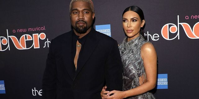 """Kanye West and Kim Kardashian West attend the opening night of """"The Cher Show"""" at Neil Simon Theatre on December 3, 2018, in New York City."""