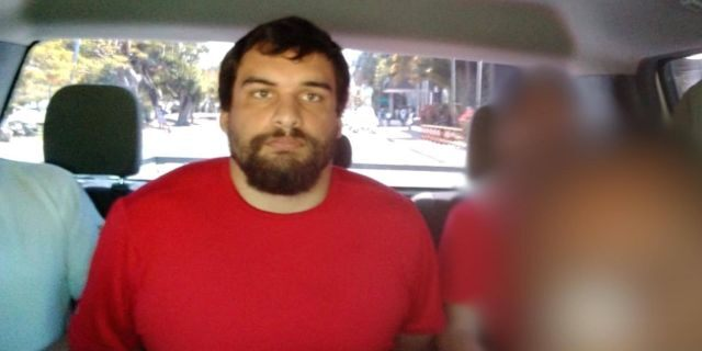 Dylan Bennett is pictured after his arrest in Cancun. (Courtesy of Mexican authorities/Todd County Sheriff