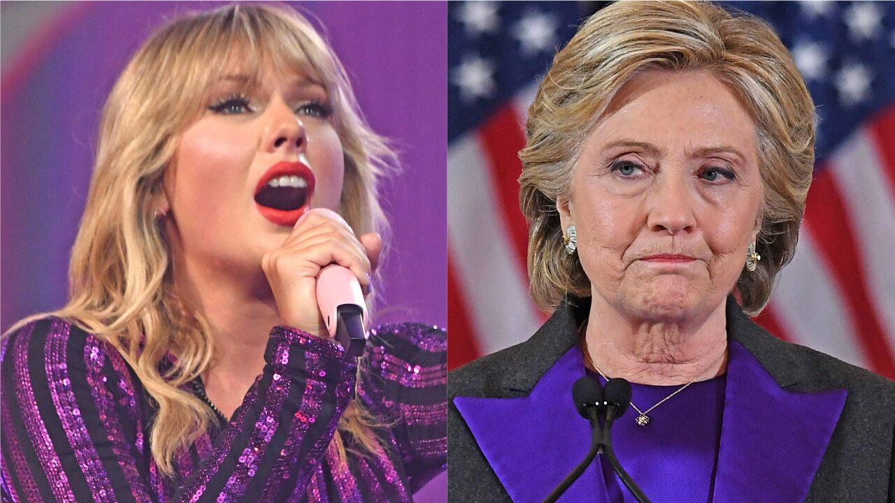 Taylor Swift likens herself to Hillary Clinton as she explains why she was silent on politics