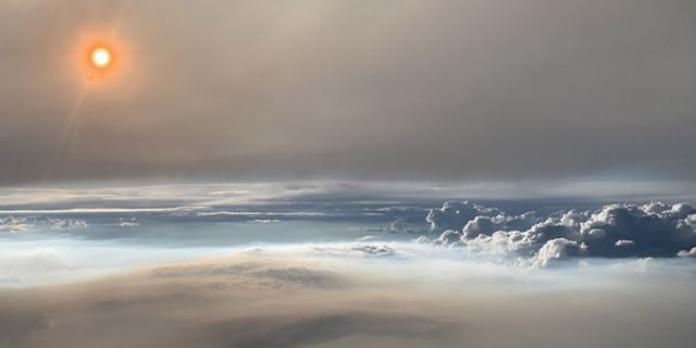 The fire cloud was photographed over eastern Washington State on Aug. 8.