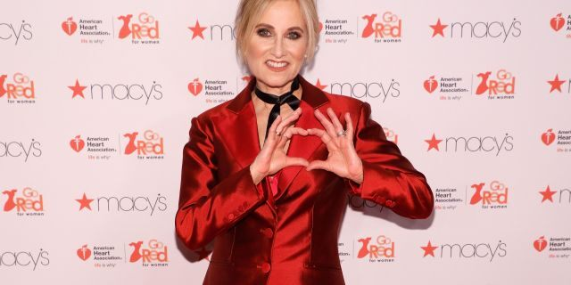"Maureen McCormick attends the ""Go Red for Women"" fashion show during Fall 2017 New York Fashion Week at Hammerstein Ballroom on February 9, 2017, in New York City. (Photo by Taylor Hill/FilmMagic)"