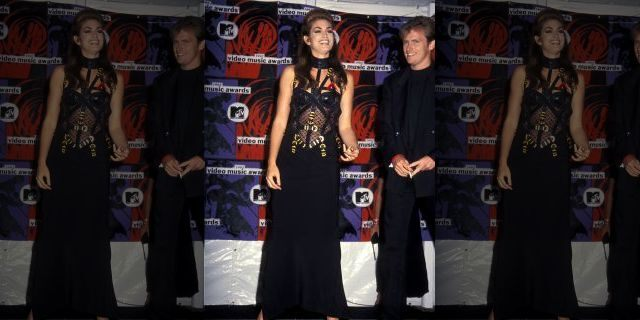 Model Cindy Crawford attends the MTV Video Music Awards on September 9, 1992