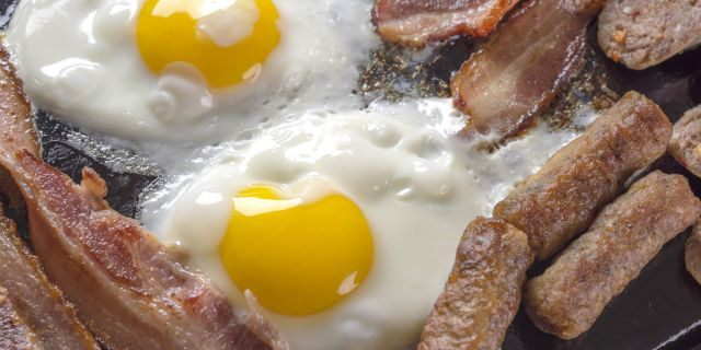Eggs, sausage and toast are among American's favorite breakfast foods, according to the study.