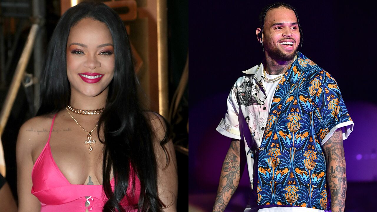Chris Brown thirsts over Rihanna's Instagram photo -- and her fans are furious