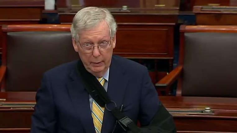 GOP leaders decry Kavanaugh attacks as McConnell says 'this is not normal political behavior'