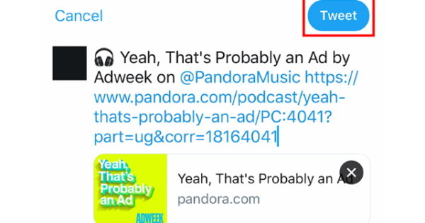 Here's How to Share Content from Pandora in a Tweet – Adweek