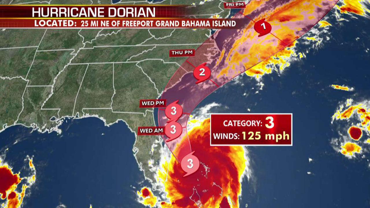 Hurricane Dorian downgraded to Category 3 storm, continues its assault on the Bahamas